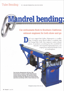 Mandrel bending